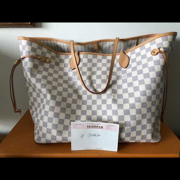 Louis Vuitton Handbags - Louis Vuitton Neverfull GM Damier Azur Canvas f83b5f9ea63c9